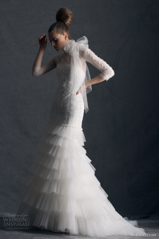 cymbeline-paris-wedding-dresses-2014-hortense-sleeves-mermaid-gown