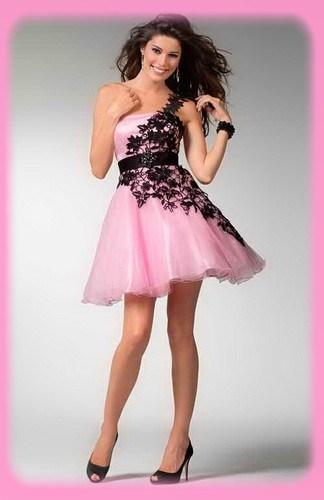 vestidos-de-debutante-rosa-curto